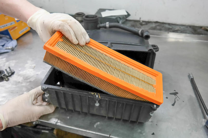<p>and take out the air filter.